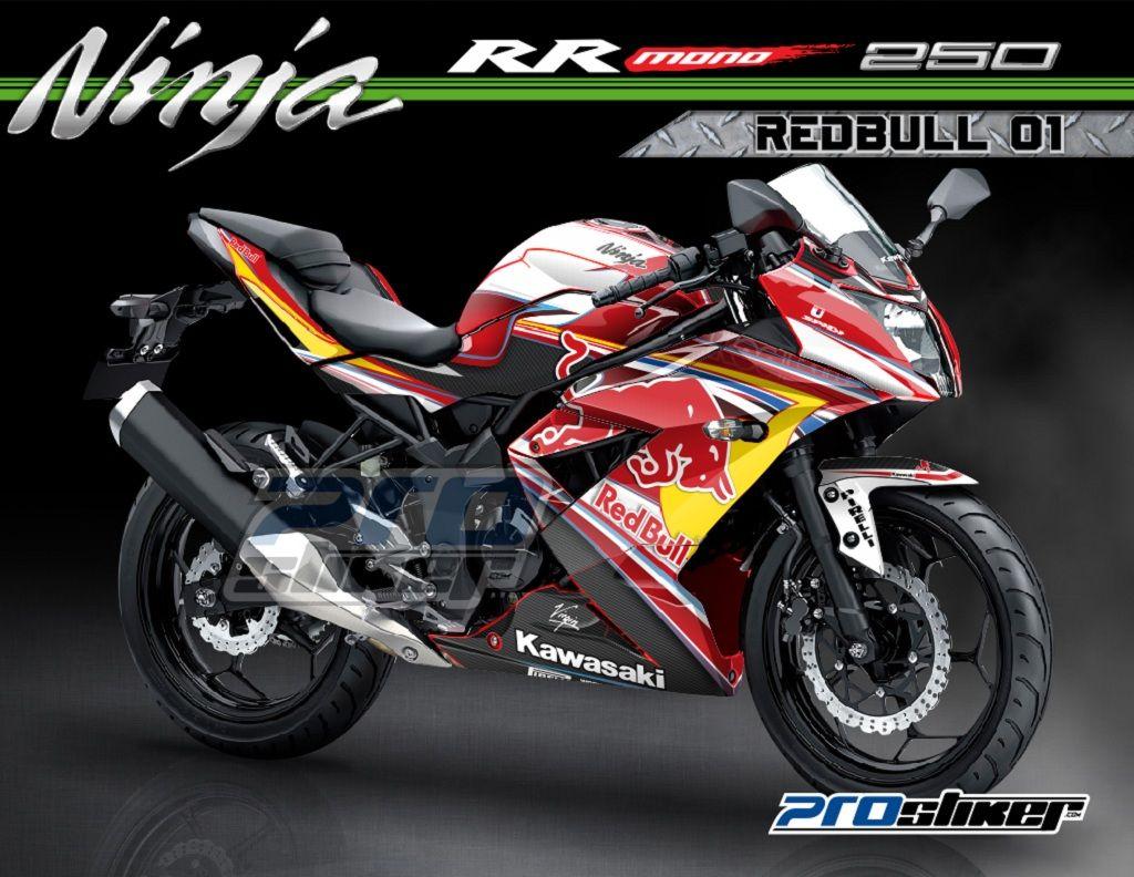 modif striping kawasaki ninja rr mono 250cc warna merah motif